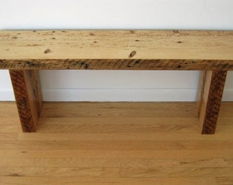 Reclaimed  Wood Bench - Barn Wood Barn Beams 1800s