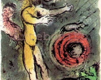 """Chagall Lithograph Odyssey 1 """"Proteus""""  1989  -f"""