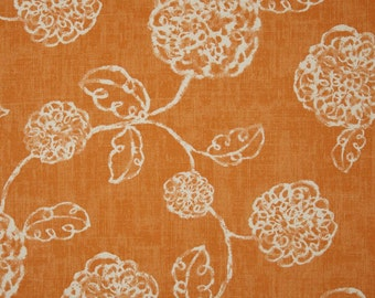 Fall Table Runner Tablecloth Autumn Thanksgiving   Orange Floral Decor Autumn Decor Table Runner Pick Your Size  Runner Floral Runner