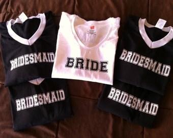 Bridal Party Jersey T-shirts
