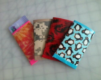 Custom Duct Tape Credit Card and Money Holder Pocket Size Small Wallet