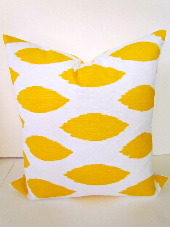 Yellow Down Throw Pillows : YELLOW PILLOW 20x20 Decorative Throw Pillow by SayItWithPillows