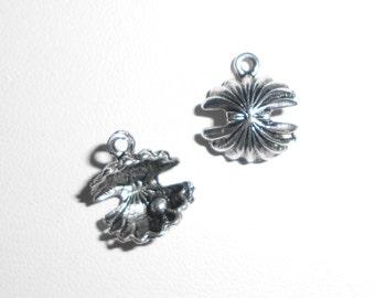 Silver Sea Shell  Charms