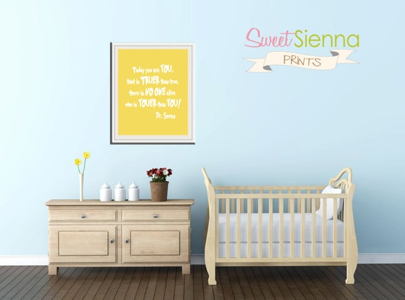 "Dr Seuss Nursery Print, Nursery Printable Art, Nursery decor, baby nursery art. Nursery Wall quote, typographic nursery print, 8x10"" PDF"