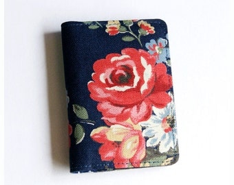 Business Card Holder, Gift Card Holder, Fabric Card Case, Credit Card Case - Vintage Flowers