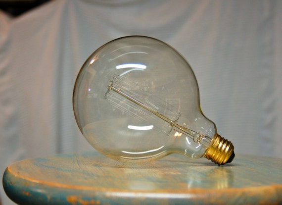 4 Pack Edison Globe Light Bulb G40 Size 60 Watt