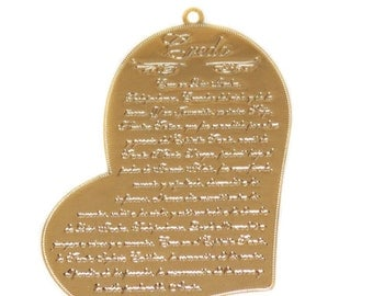 The Apostles Creed Charm, 54x38mm, Gold Filled; 1 piece