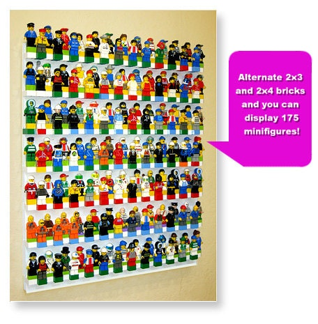 Brick Rack Wall Display System For Your Lego Sets Minifigures