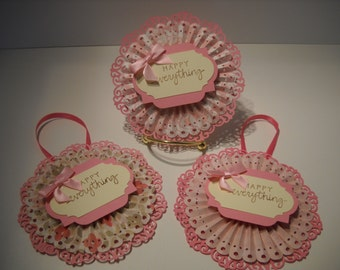 Victorian Inspired Rosette Gift Tag