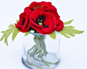 6x Bouquet flower Felt wedding Biedermann bouquet bridal bouquet spring bouquet of felt flowers