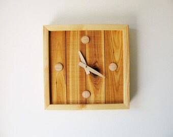Wood wall, desk clock. Modern, rustic clock. One of a kind clock.