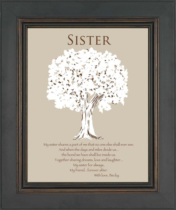 Items Similar To SISTER Gift -Personalized Gift For Sister