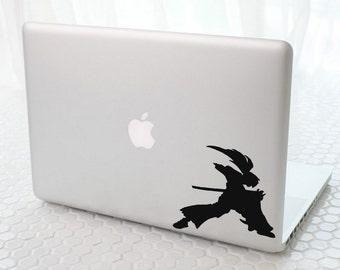 Macbook Decal sticker / Laptop Decal sticker - Himura Kenshin Battou Jutsu
