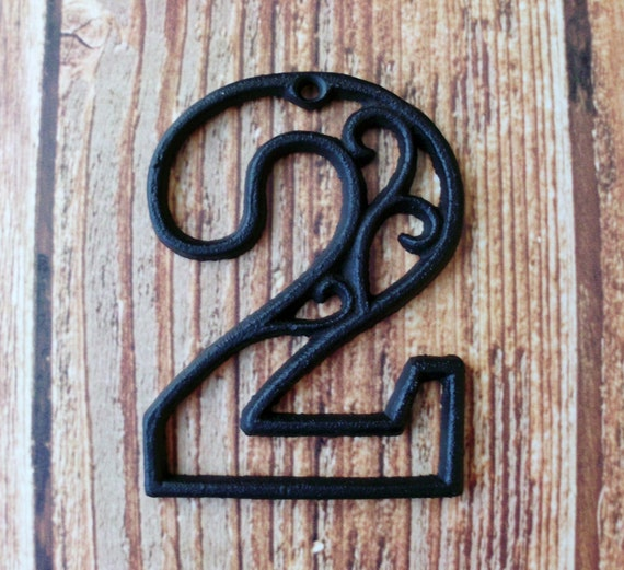 house number two cast iron wall hangers decorative victorian. Black Bedroom Furniture Sets. Home Design Ideas