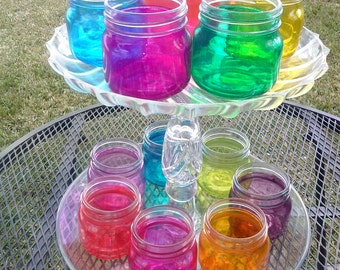 colored mason jars | etsy
