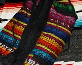 Vintage Multi-colored Aztec/Mexican/Tribal Overnighter Tote Bag