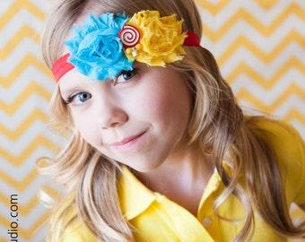 Candy Shoppe - Headband, Baby Headband, Shabby Chic Headband, Candy Headband, Photography Prop, Lollipop Headband, Couture Headband