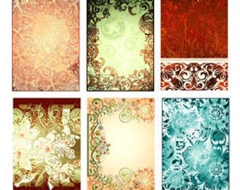 Art Nouveau Digital Paper Pack