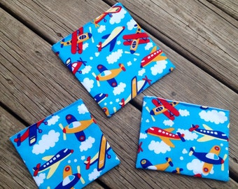 Custom Made Reusable Snack Bags -  3 Different Sizes