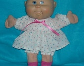 "Cabbage Patch Doll clothes Newborn - Lil Sisters 10"" - 11"" Mini Colored HEARTS VALENTINE  Dress, Panties and Socks"