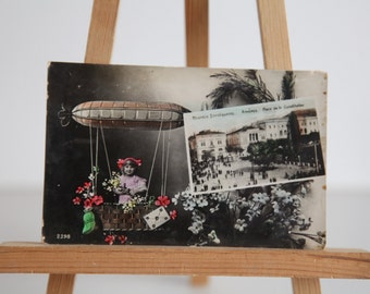 Antique Hand Painted 1922 Postcard. Made in Italy