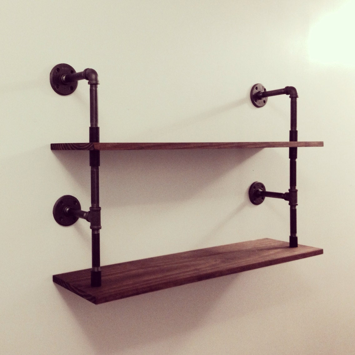 double pipe shelf by cushdesignstudio on etsy. Black Bedroom Furniture Sets. Home Design Ideas