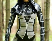 Mass Effect Kasumi Tron Cosplay Latex Costume / Unisex Latex Catsuit, Rubber Clothing