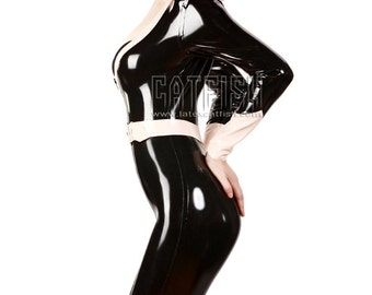 Sexy woman latex catsuit