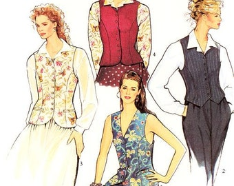 Style Vest Pattern 2164 - Misses' Dress in Two Lengths and Unlined Jacket