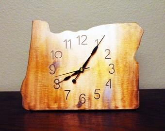 Oregon metal clock