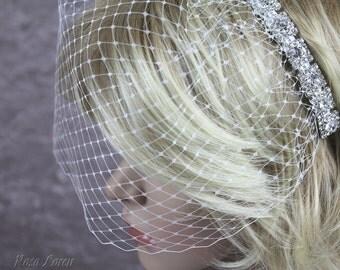 Short Birdcage Veil, Cage Veil Short, Short Veil, Bird Cage Veil, Short Wedding Veil, Short Veil