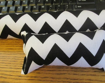 Black and White Wrist Rest, Chevron Wrist Rest, Fabric Wrist Rest, Mouse and Keyboard Wrist Rest