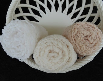 Newborn Photography Cheesecloth Wraps...Set of Three..Photo Props...Hand dyed...Swaddle Wraps