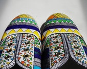 Tribal Shoes - Tribal Print Shoes - Womens Shoes - Handpainted Custom Canvas Shoes - Free Shipping