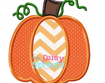 Pumpkin Applique Design INSTANT DOWNLOAD