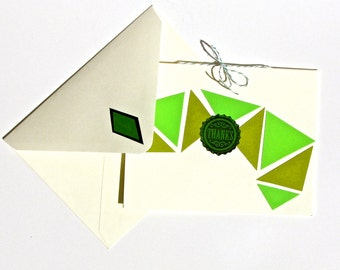 Emerald Geometric Graphic Appreciation Thank You Card