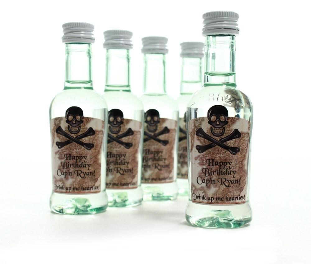Birthday Favor Liquor Labels Unique Mini Bottle Labels