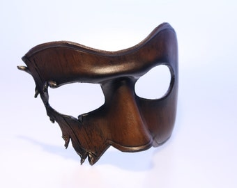 steampunk leather mask ,made to order