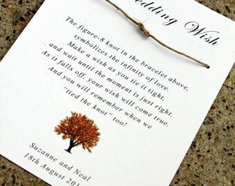 Fall wish bracelet Wedding Favors, rustic Wedding wishing bracelets, autumn wedding favor, autumn wedding, wedding favors, wish bracelets 25
