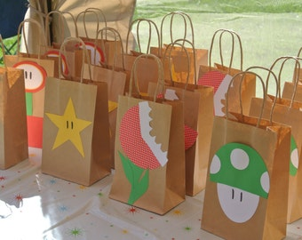 12 Super Mario Brothers Party Favor or Treat Bags