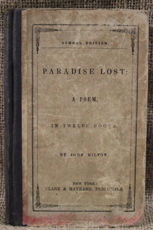 Book paradise lost by john milton