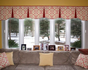 "Custom Wide Width Pleated EMILEE  Hidden Rod Pocket Valance fits 81""- 115"" window, LABOR and lining only, you provide the fabrics"