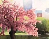 "Original Watercolor ""Blooming Spring"" by Anna Starkova"