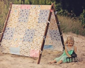 Kids Photo Prop Tent Frame and Patchwork Cover Photography Props Outdoor Photography Prop Outdoor Photo Prop Beach Tent and Patchwork Cover