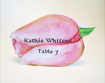 Tulip Place Card - Unique - Flower Place Card - Wedding Place Card - Event Escort Card - Customized - Flower