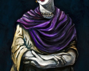 """Frida Kahlo Dia de los Muertos  8""""x10"""" Photo Reproduction"""