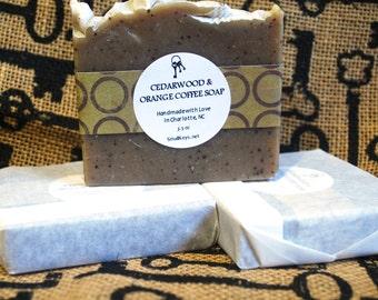Cedarwood & Orange Coffee Cold Process Vegan Handmade Soap