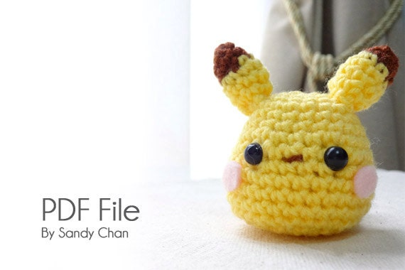 What Size Needle For Amigurumi : Amigurumi Pikachu PATTERN by HookSANDYarns on Etsy