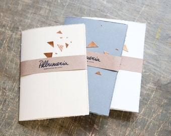 Pocket Notebook Set of Five Space Dust Small Notebook Jotter Bronze Triangles Petit Carnet