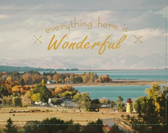 Everything Here Is Wonderful -Bear Lake Utah postcard